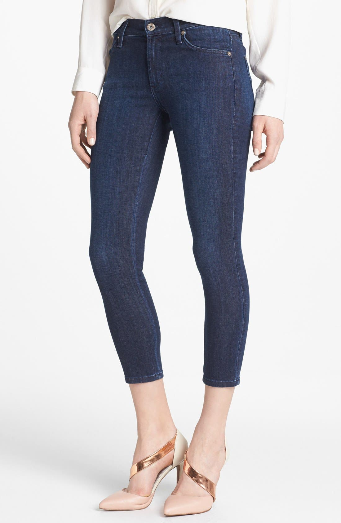 Alternate Image 1 Selected - James Jeans Crop Skinny Jeans (Petite) (Online Only)