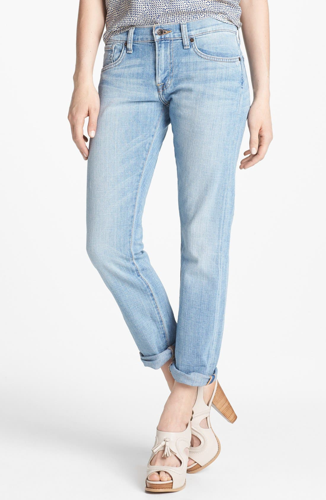 Main Image - Lucky Brand 'Sienna' Tomboy Crop Jeans (La Jolla)