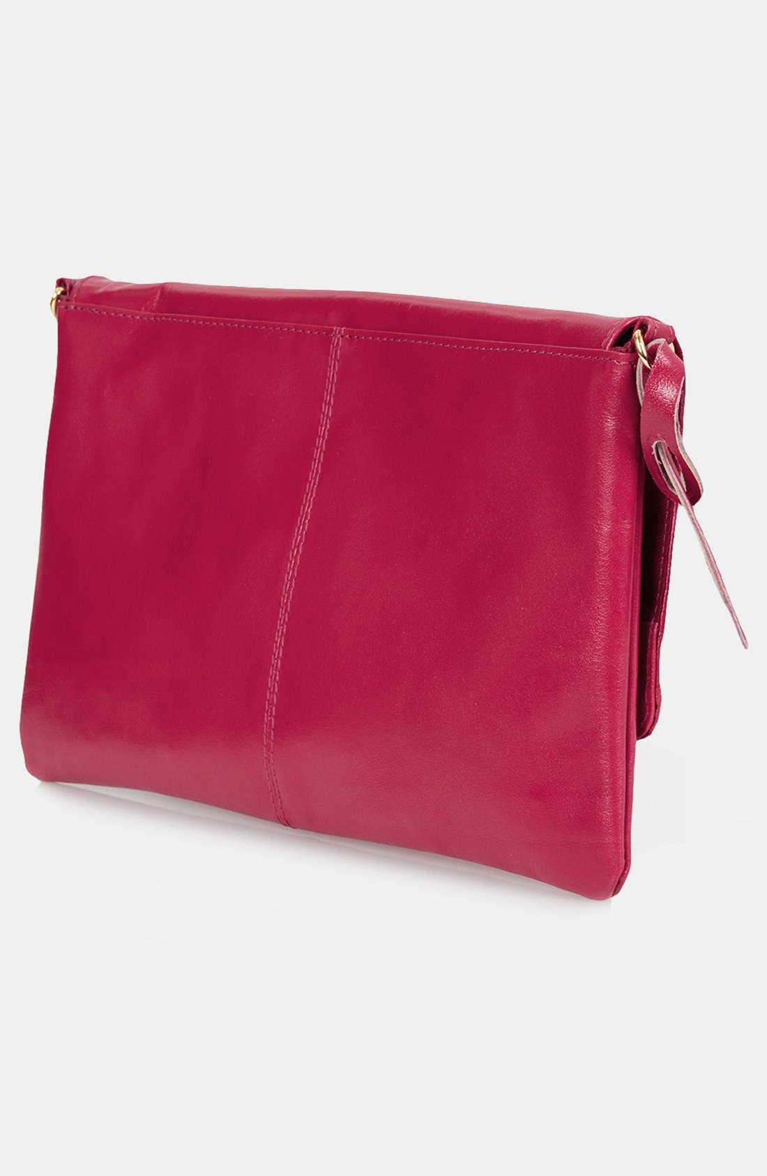 Alternate Image 3  - Topshop Leather Foldover Leather Clutch