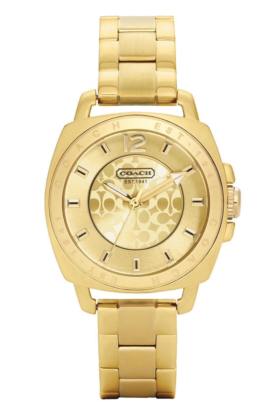 Main Image - COACH 'Boyfriend - Small' Bracelet Watch, 35mm