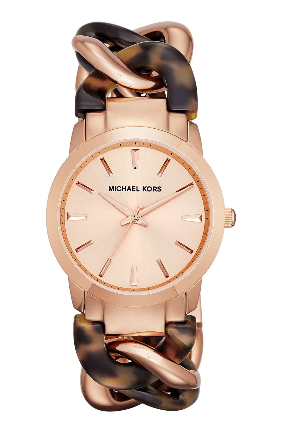 Main Image - Michael Kors 'Lady Nini' Chain Link Bracelet Watch, 35mm