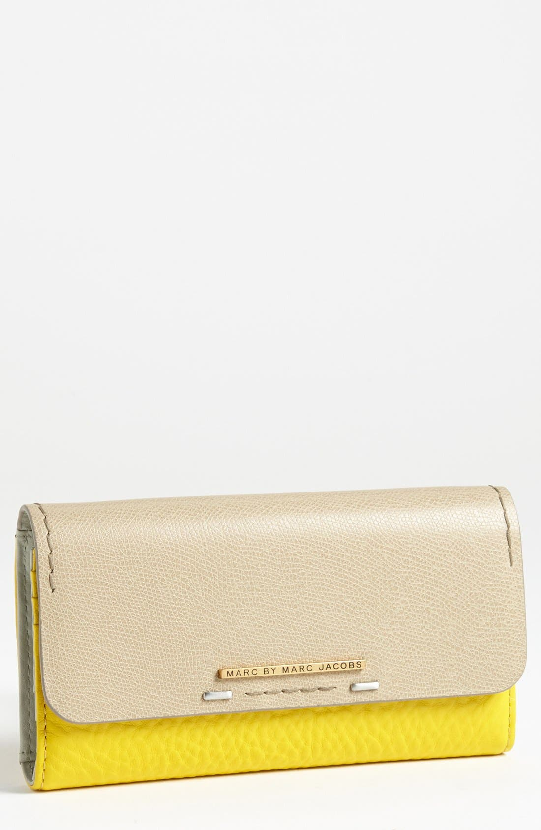 Main Image - MARC BY MARC JACOBS 'Sheltered Island' Colorblock Trifold Wallet