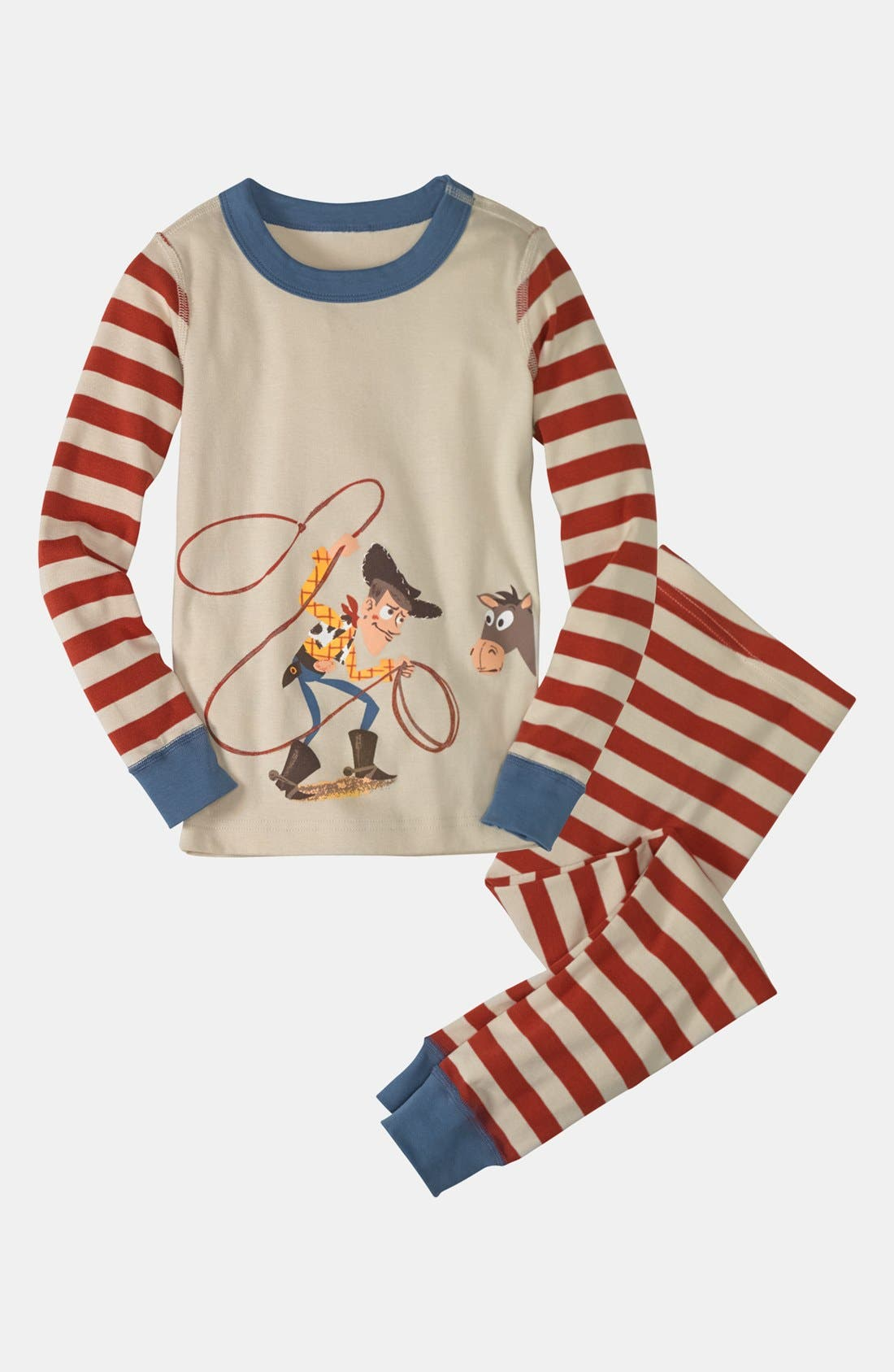 Alternate Image 1 Selected - Hanna Andersson 'Woody & Bullseye' Long Johns (Little Boys & Big Boys)