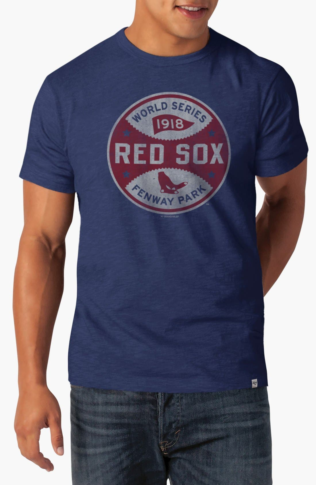 Alternate Image 1 Selected - 47 Brand 'Boston Red Sox World Series' Graphic T-Shirt