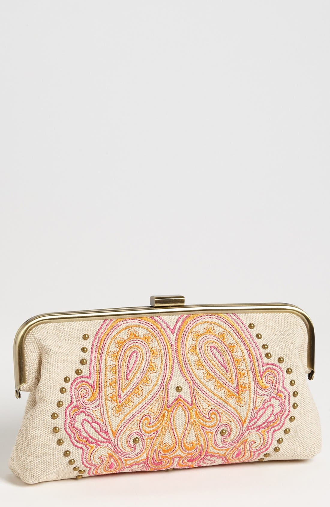 Alternate Image 1 Selected - Jessica Simpson 'Bali' Frame Clutch