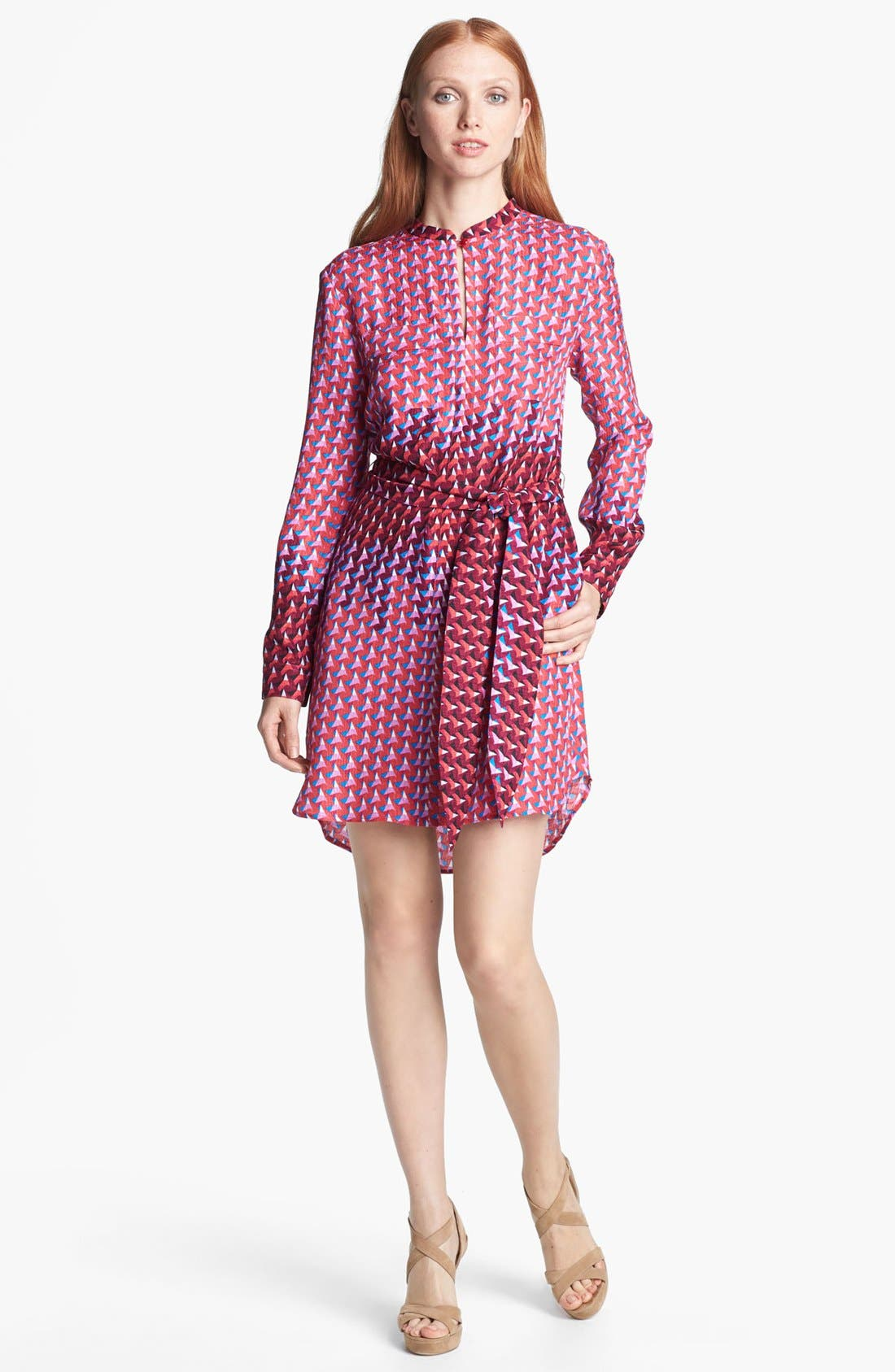 Alternate Image 1 Selected - MARC BY MARC JACOBS 'Paradox' Print Silk Shirtdress