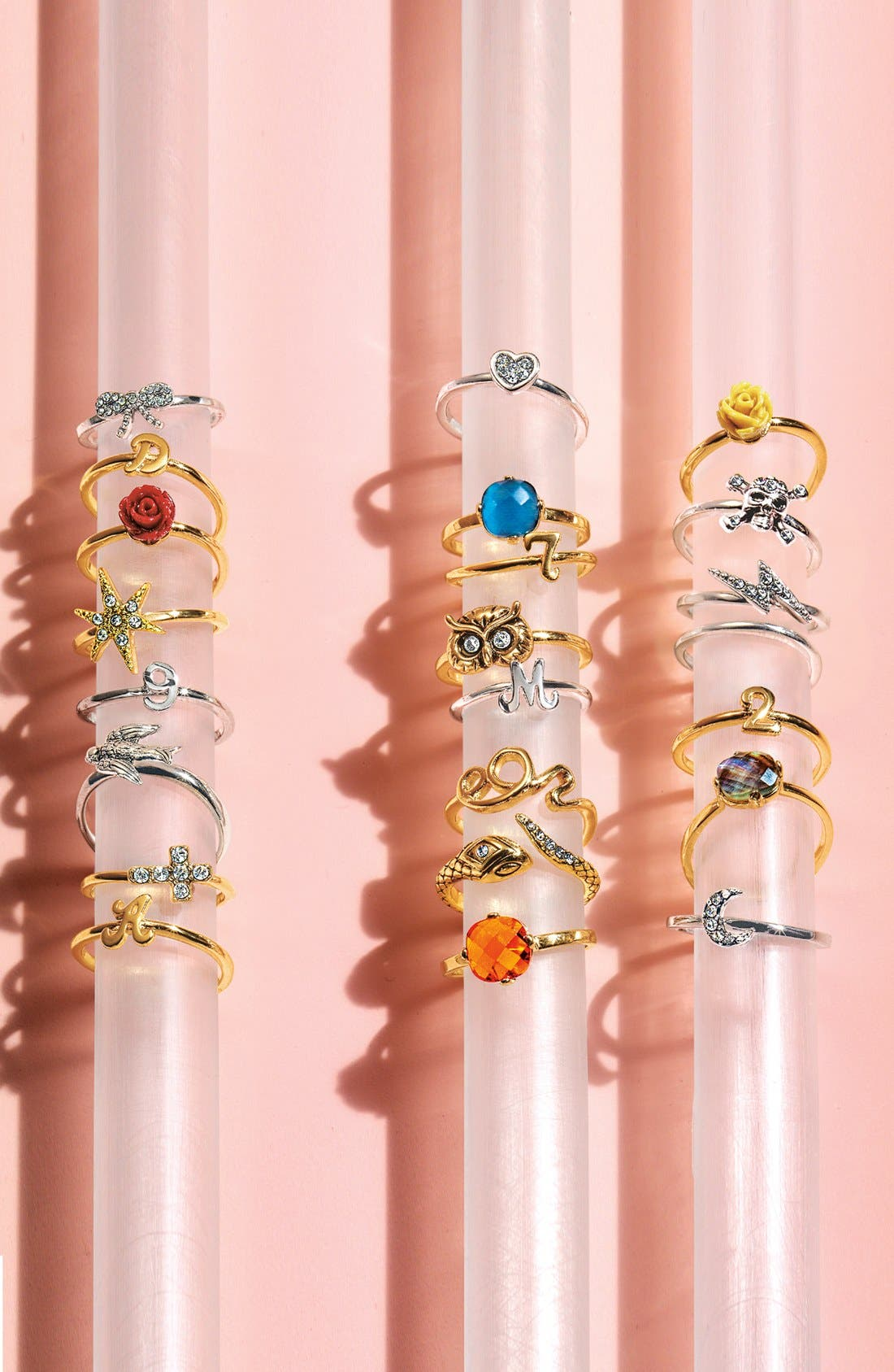Alternate Image 2  - Ariella Collection Script Initial Ring (Nordstrom Exclusive)