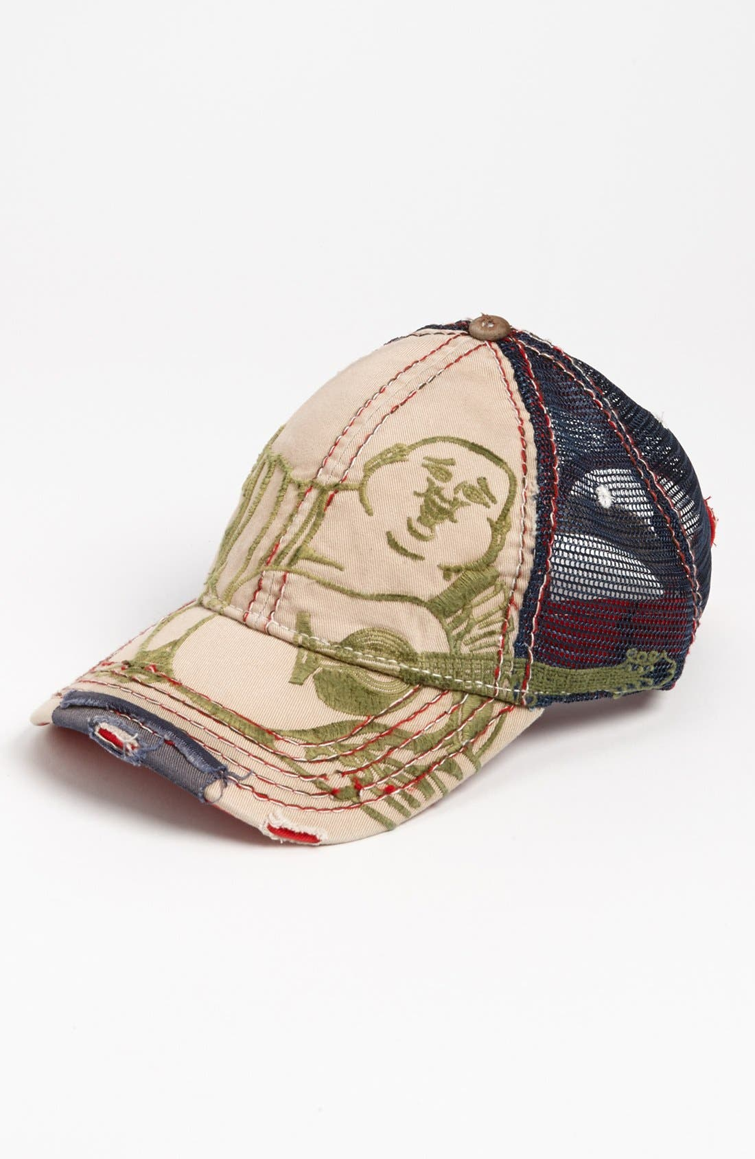 Alternate Image 1 Selected - True Religion Brand Jeans 'Giant Buddha' Trucker Hat