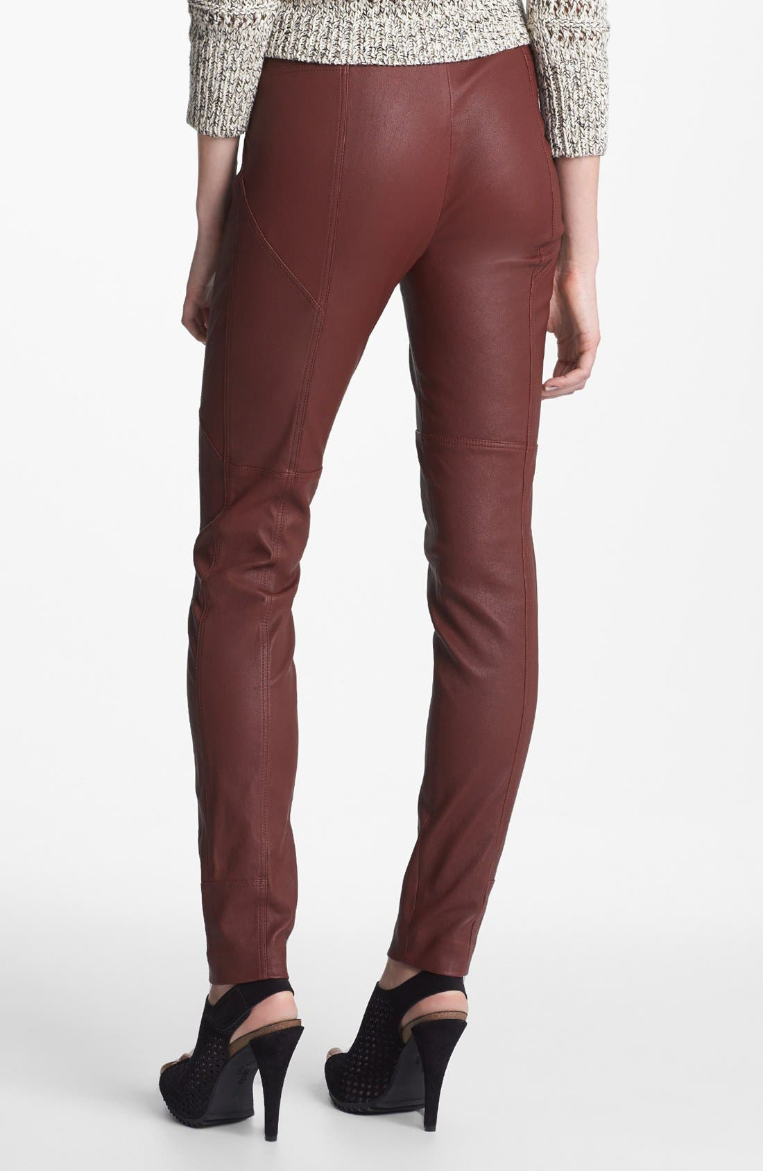Alternate Image 2  - Diane von Furstenberg 'Liberty' Leather Pants