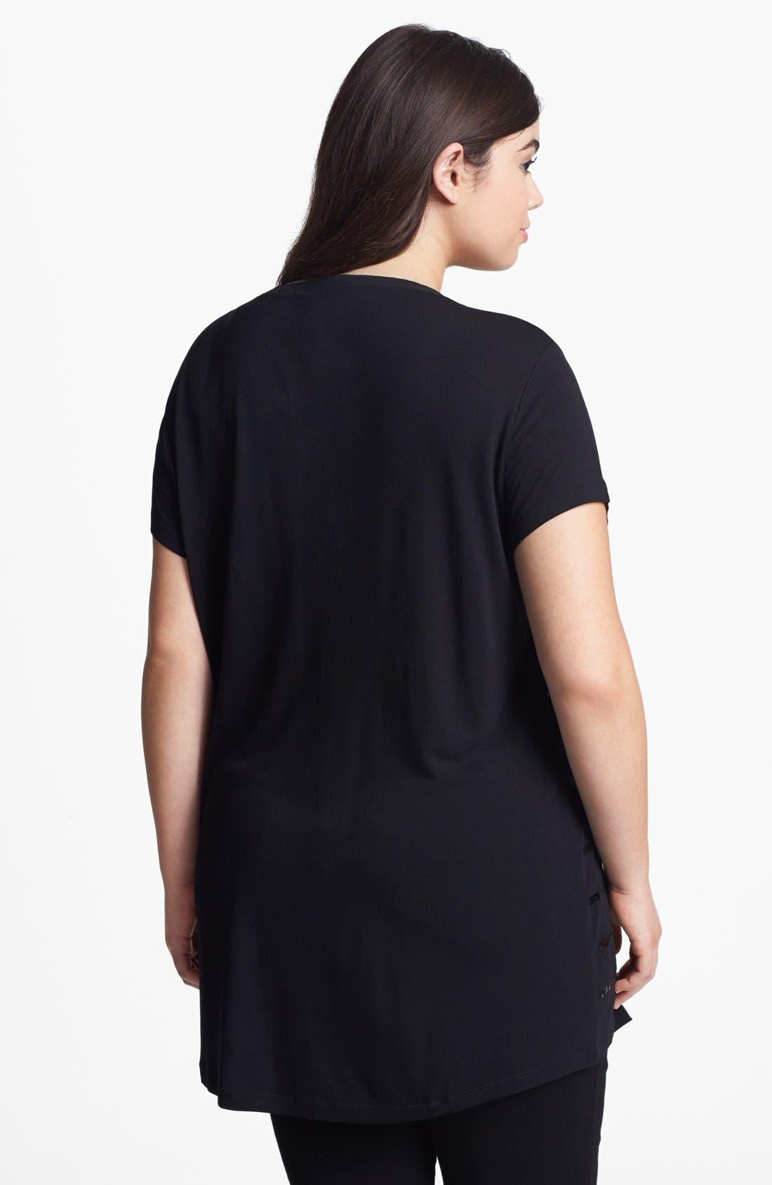 Alternate Image 2  - Kische Sequin Stripe Tunic (Plus Size)