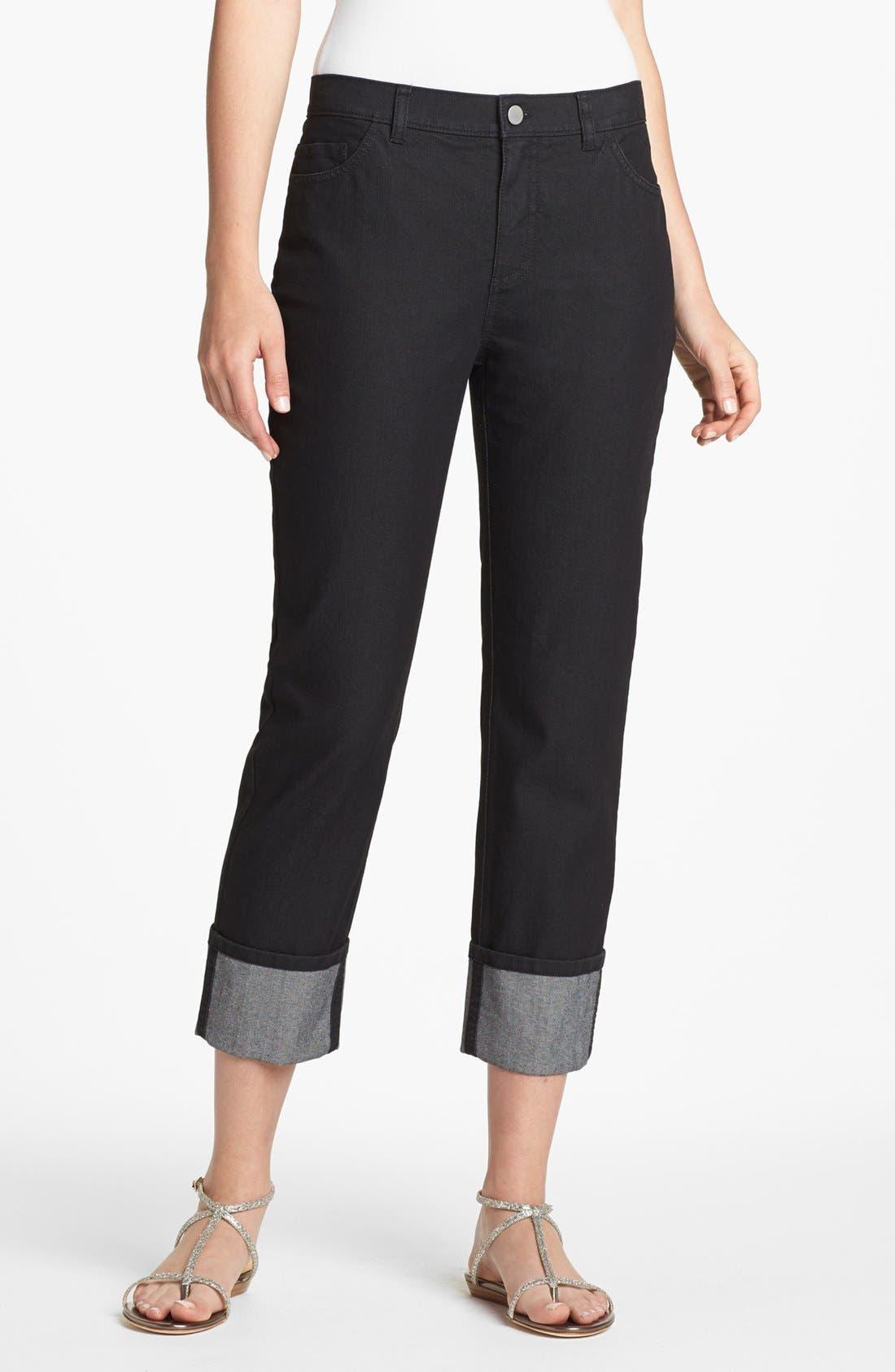 Main Image - Lafayette 148 New York Curvy Fit Crop Jeans