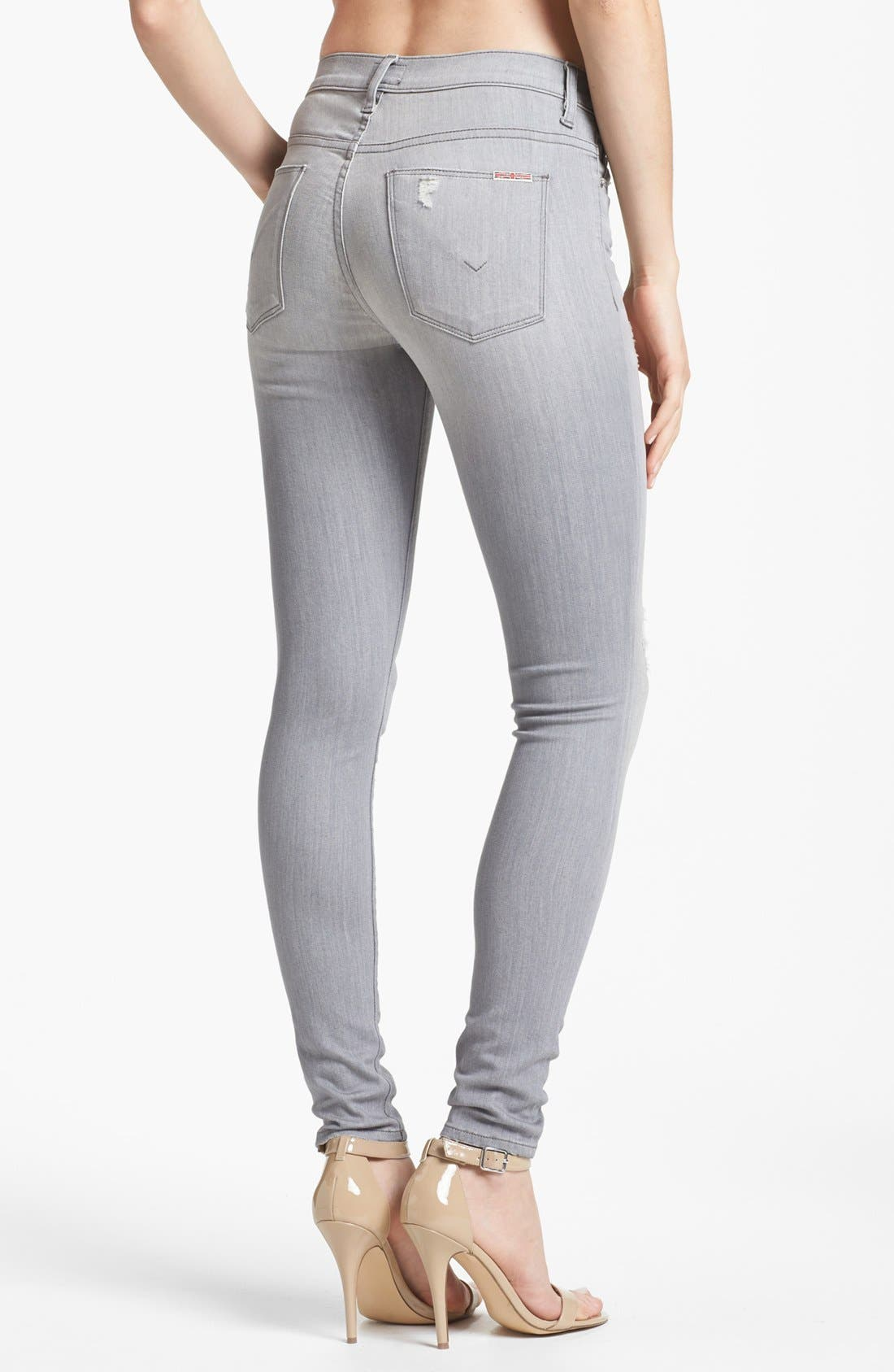 Alternate Image 2  - Hudson Jeans 'Nico' Skinny Stretch Jeans (Fiji Grey)