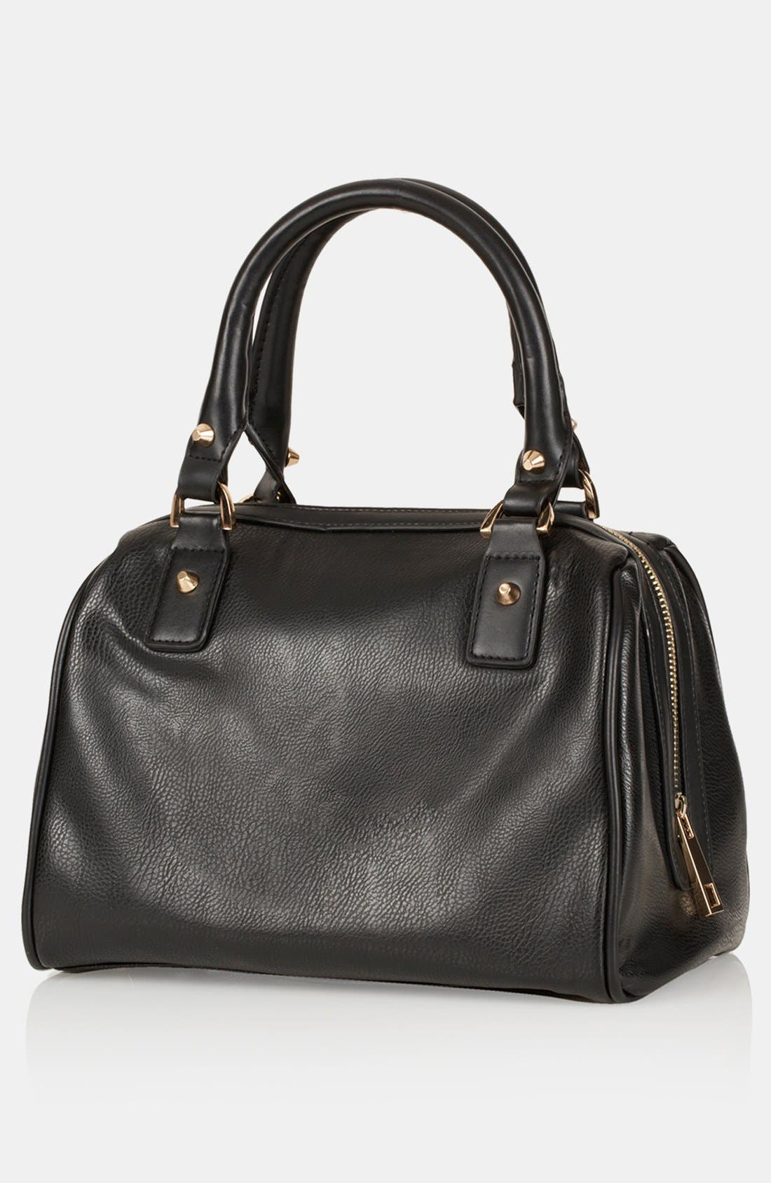 Alternate Image 3  - Topshop 'Medium' Faux Leather Bowling Bag