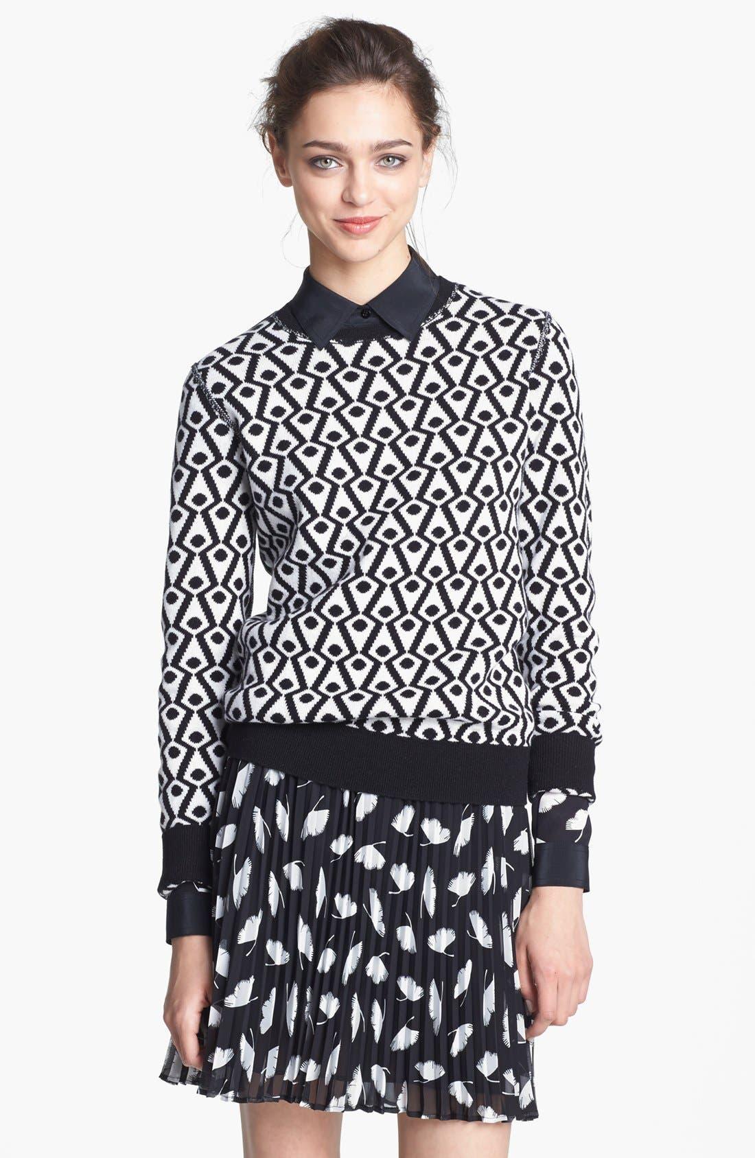 Alternate Image 2  - Miss Wu 'Delicate Leaf' Print Chiffon Skirt (Nordstrom Exclusive)