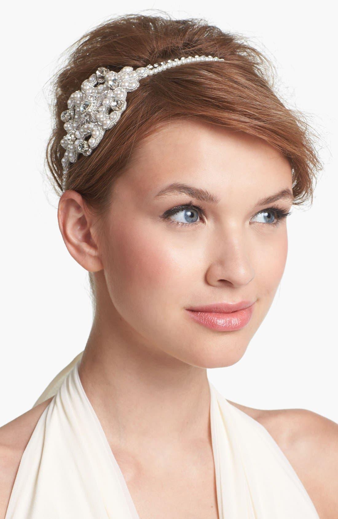 Alternate Image 1 Selected - Cara Pearl & Crystal Head Wrap