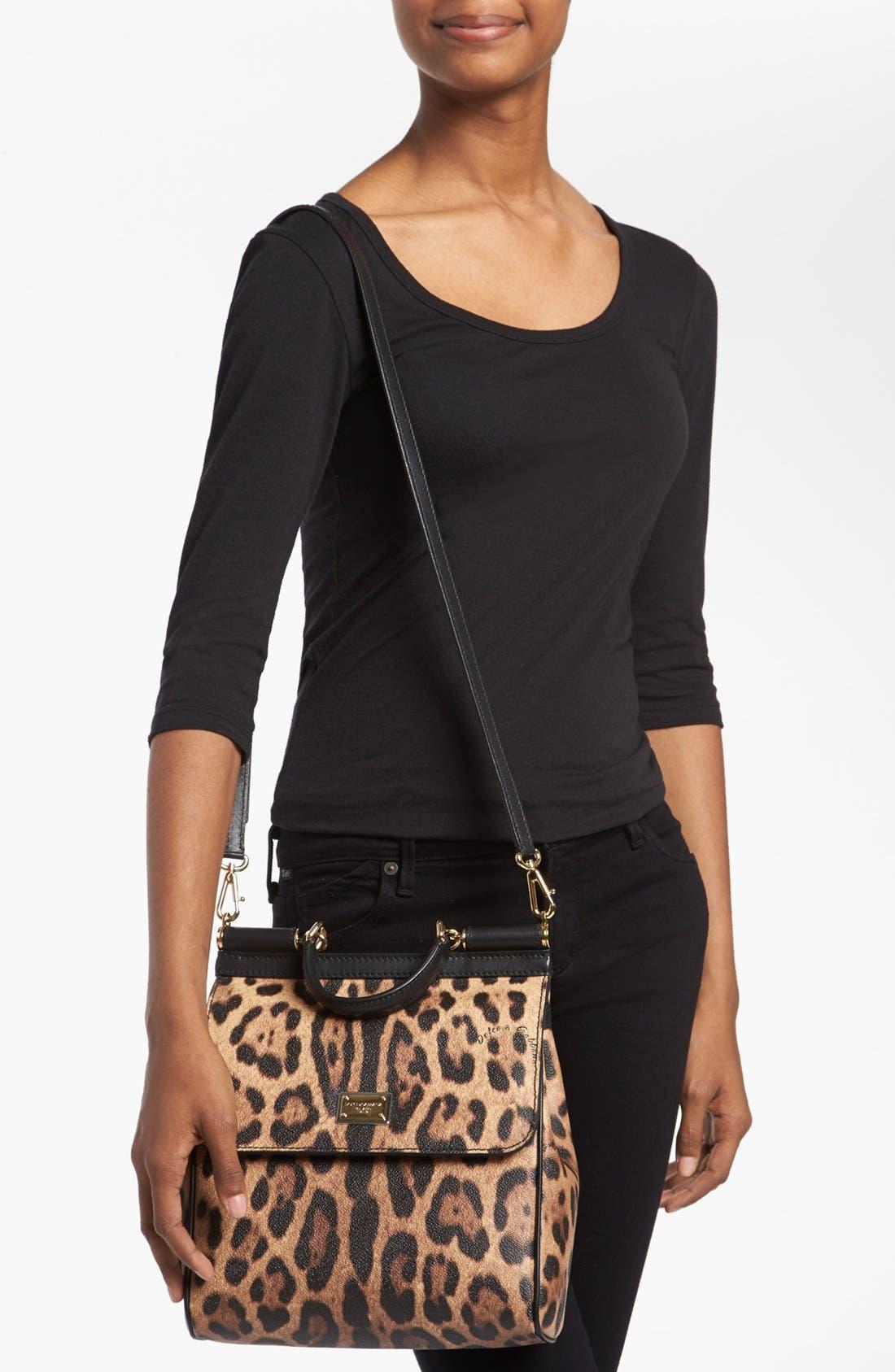 Alternate Image 2  - Dolce&Gabbana 'Miss Sicily - Slim' Leopard Print Crossbody Satchel