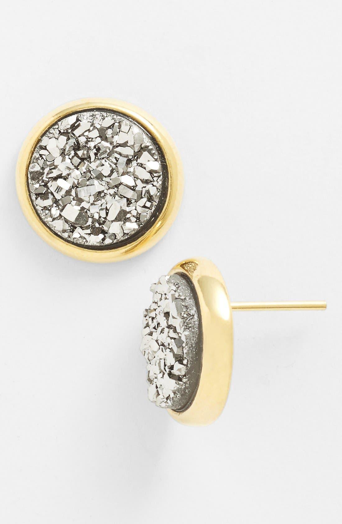 Alternate Image 1 Selected - Marcia Moran Round Drusy Stud Earrings