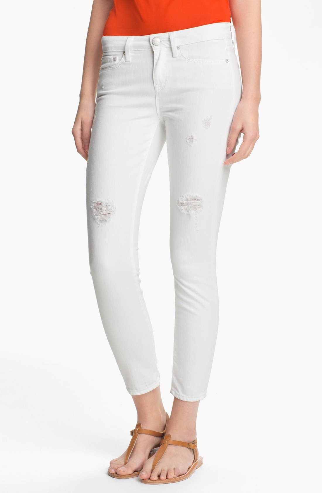 Main Image - Vince Destroyed Skinny Ankle Jeans