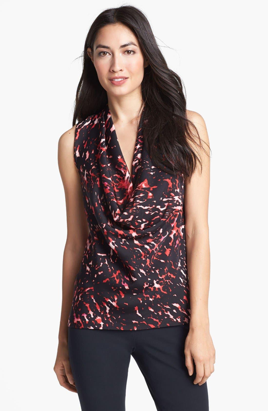 Main Image - Classiques Entier® Cowl Neck Stretch Silk Blouse