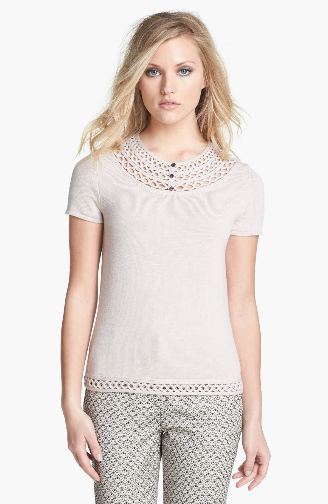 Alternate Image 1 Selected - Tory Burch 'Scarlett' Merino Wool Sweater