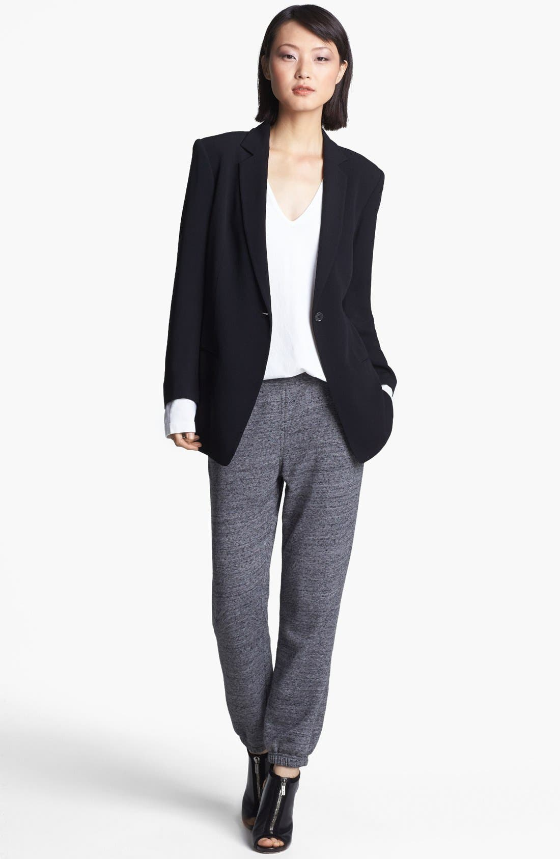 Alternate Image 1 Selected - T by Alexander Wang Crepe Blazer