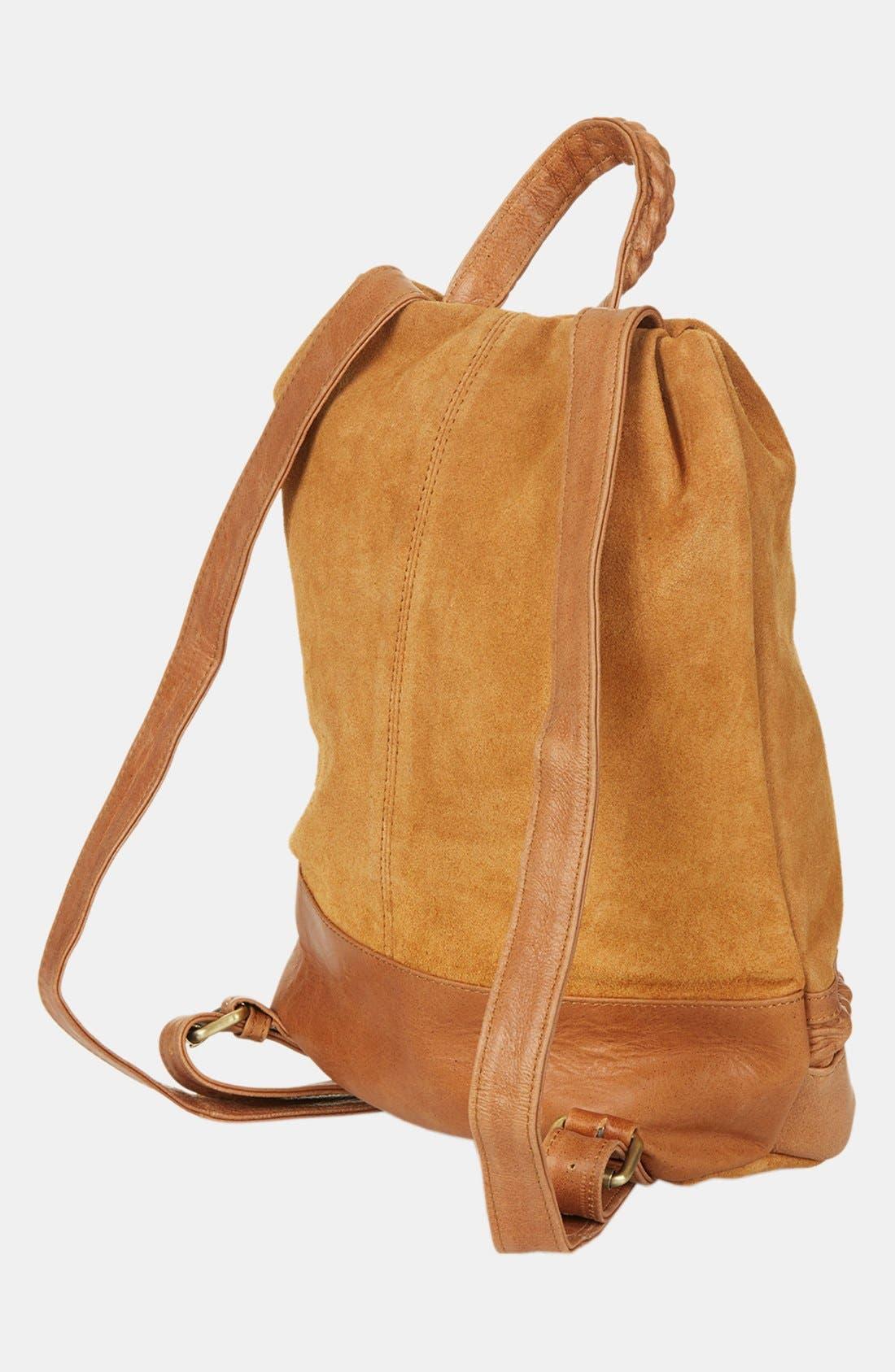 Alternate Image 4  - Topshop Suede Zip Backpack