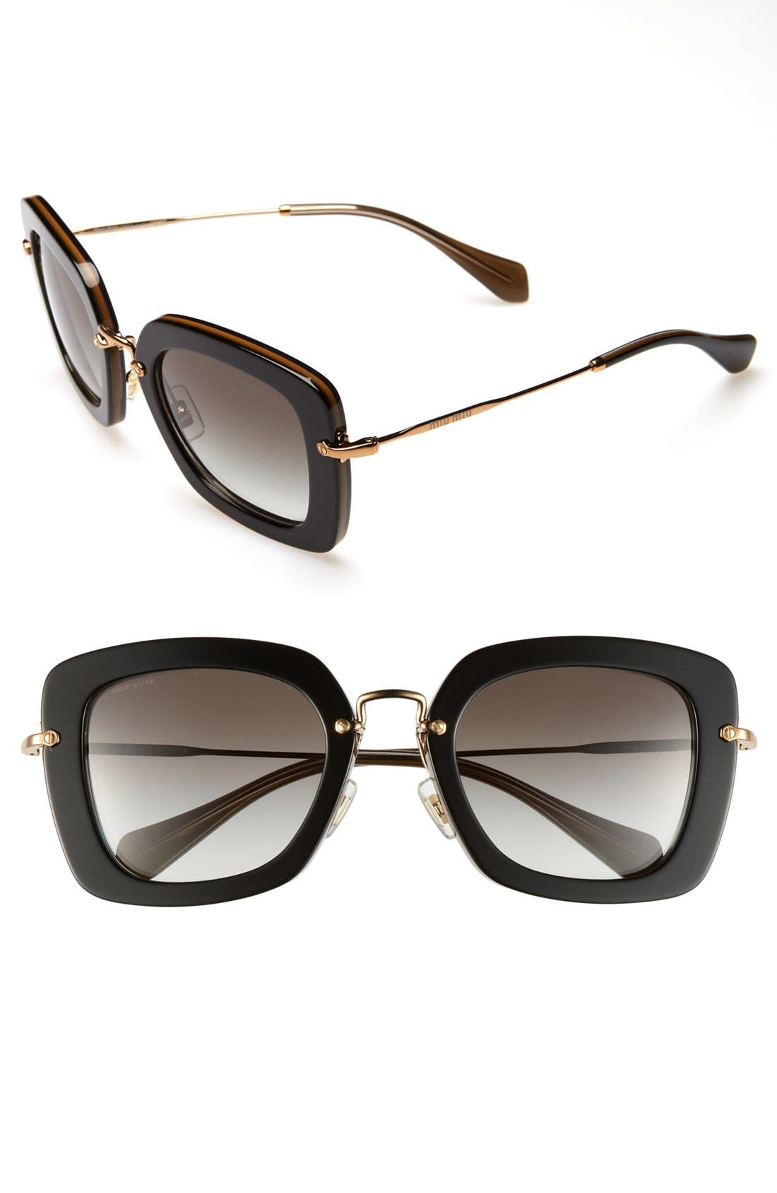 Alternate Image 1 Selected - Miu Miu 52mm Retro Sunglasses