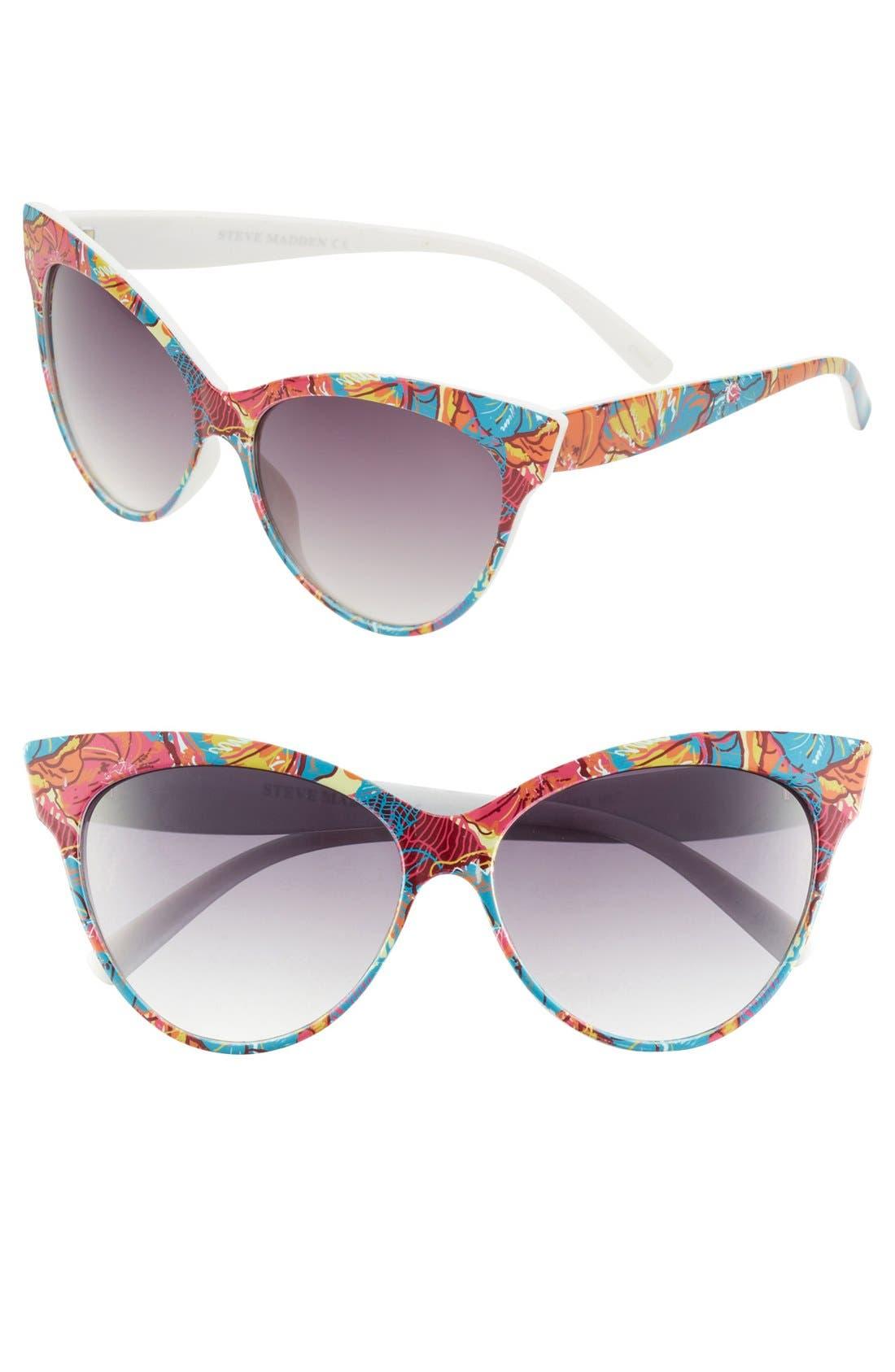 Main Image - Steven Madden Print Cat's Eye Sunglasses
