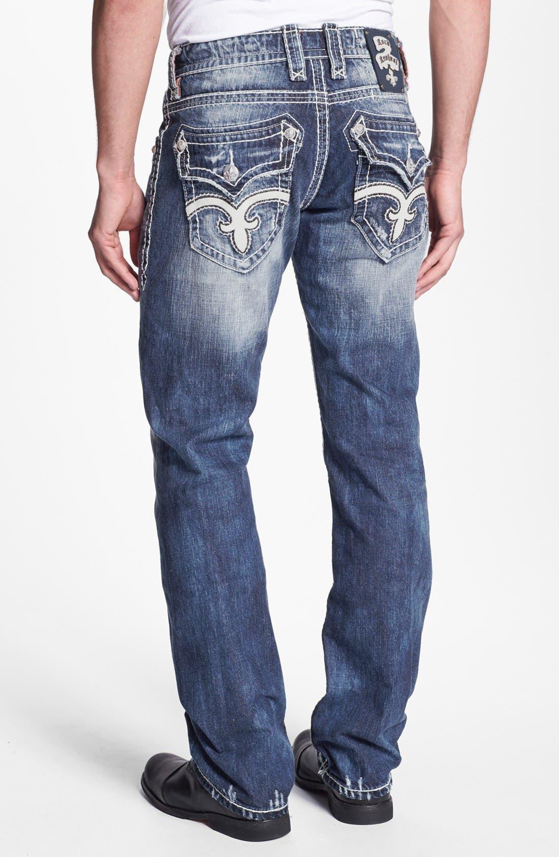 Alternate Image 1 Selected - Rock Revival 'Mick' Straight Leg Jeans (Medium Blue)