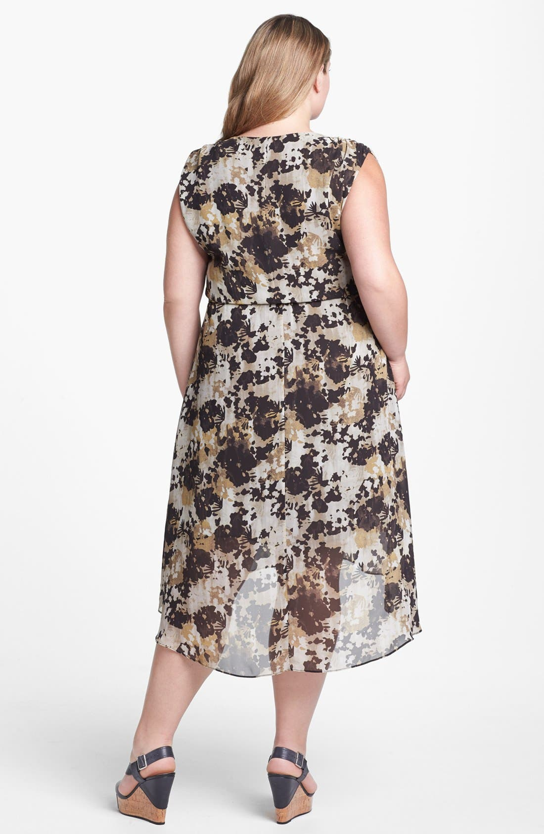 Alternate Image 2  - Vince Camuto High/Low Dress (Plus Size) (Online Only)