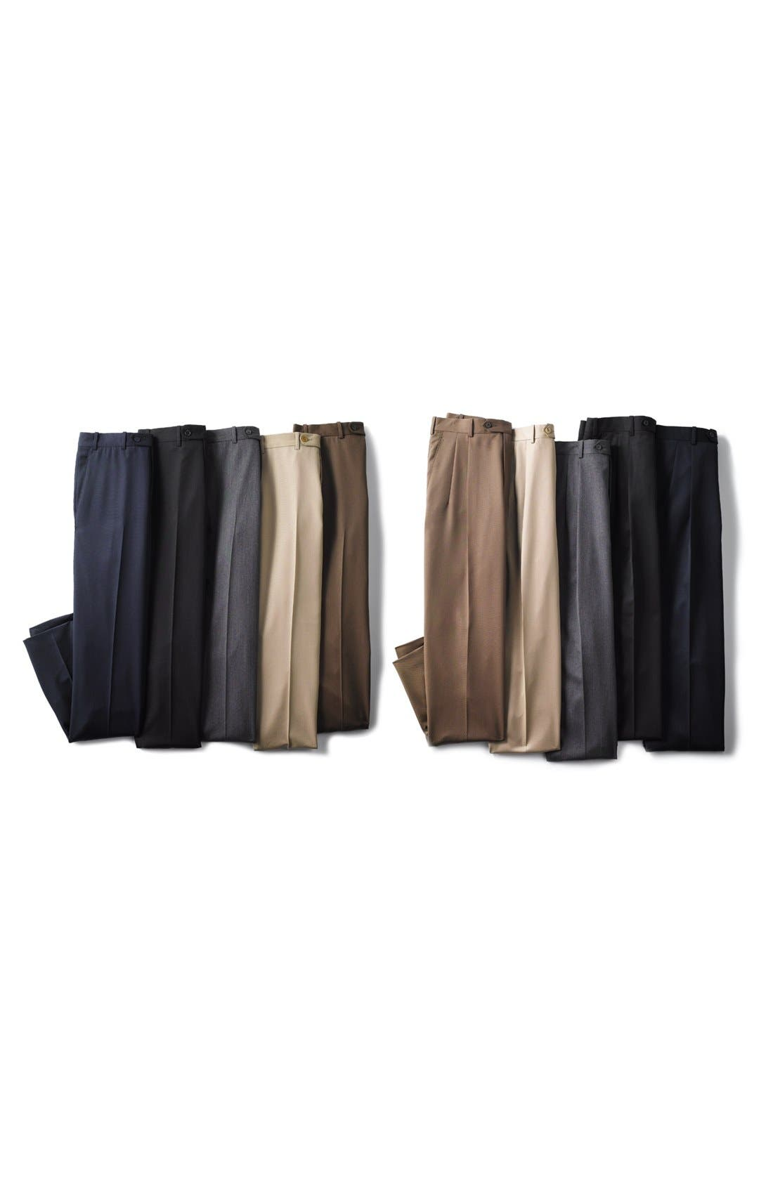 Alternate Image 4  - JB Britches Pleated Super 100s Worsted Wool Trousers