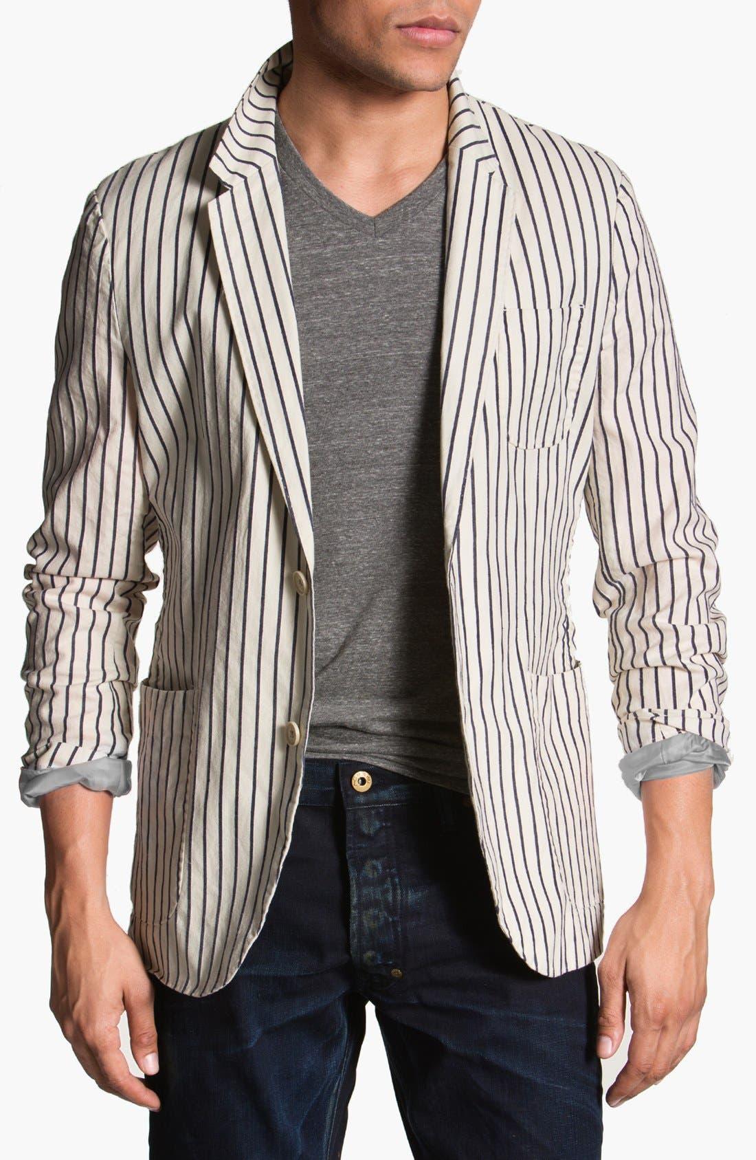 Main Image - Scotch & Soda Stripe Cotton Blazer
