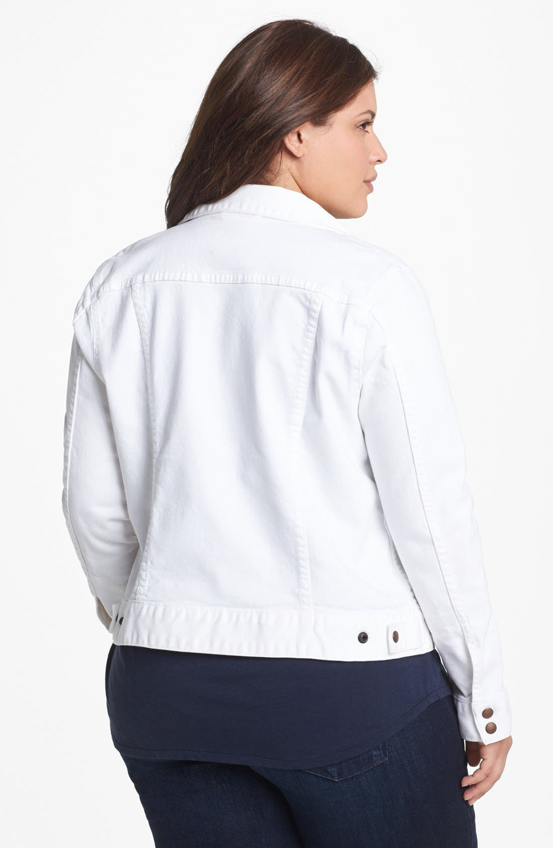 Alternate Image 2  - Lucky Brand 'Adelaide' Denim Jacket (Plus Size)