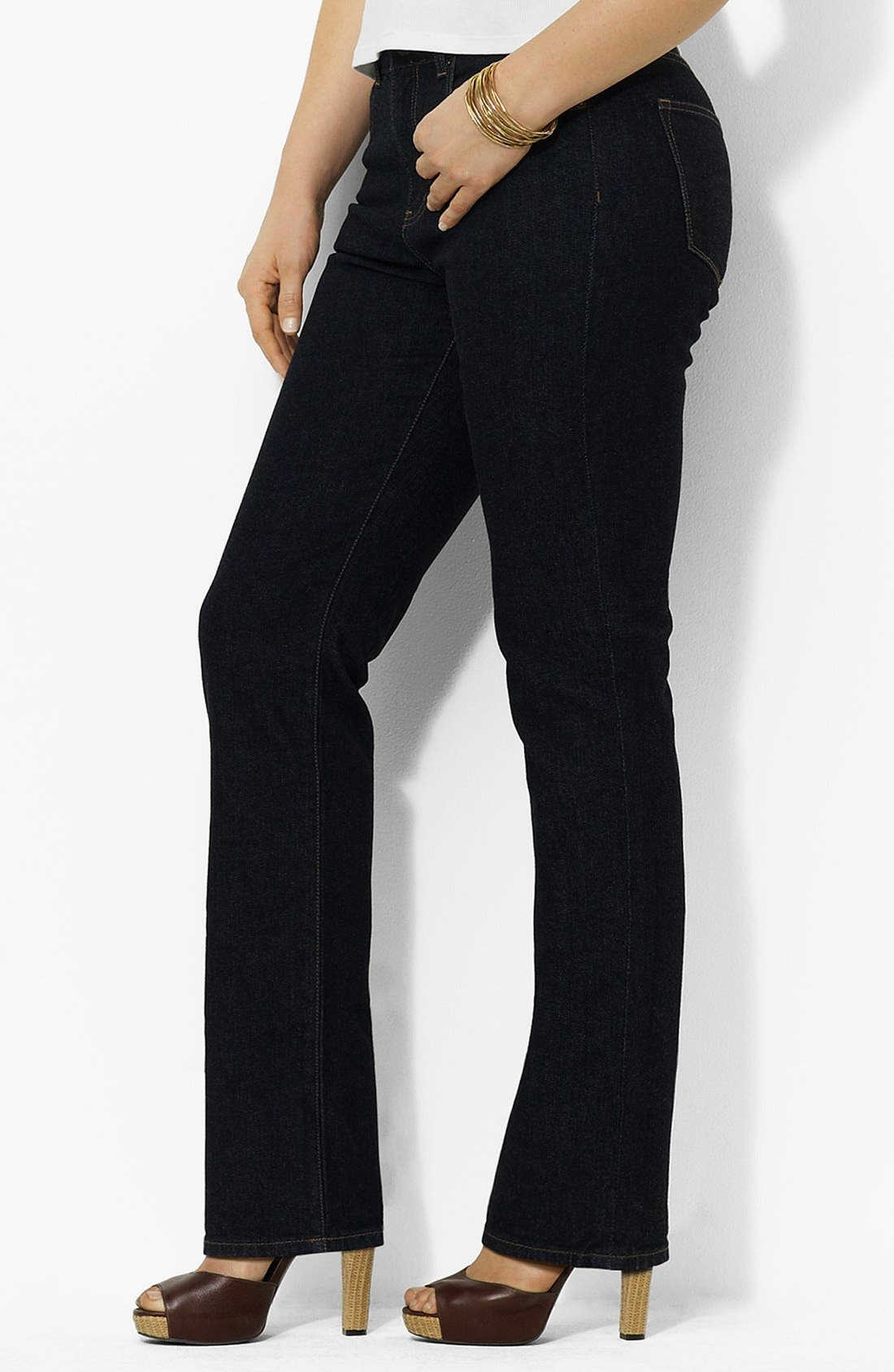 Alternate Image 1 Selected - Lauren Ralph Lauren Straight Leg Jeans (Plus Size)