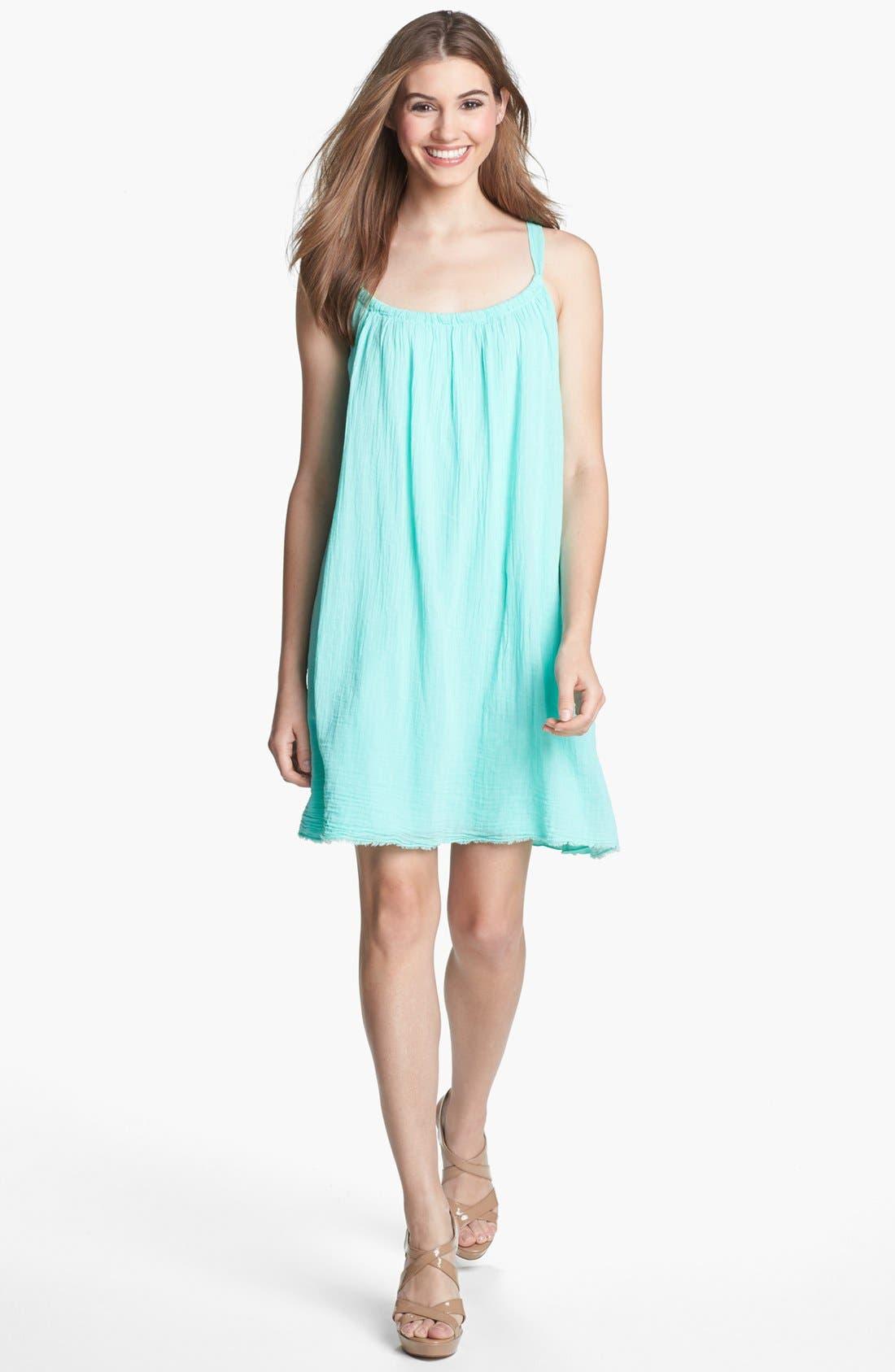 Main Image - Velvet by Graham & Spencer Crinkled Tank Dress