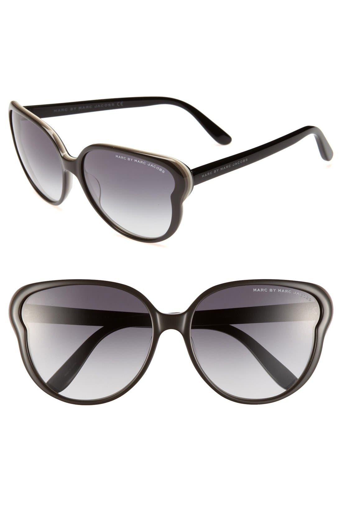 Alternate Image 1 Selected - MARC BY MARC JACOBS 59mm Butterfly Sunglasses