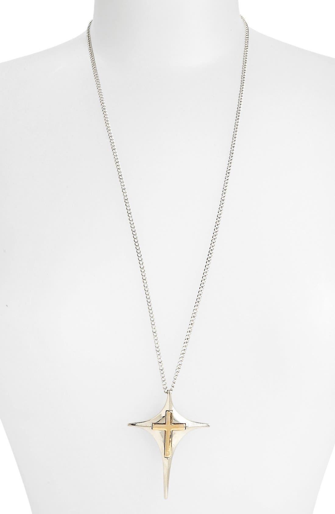 Main Image - Topshop Kite & Cross Pendant Necklace