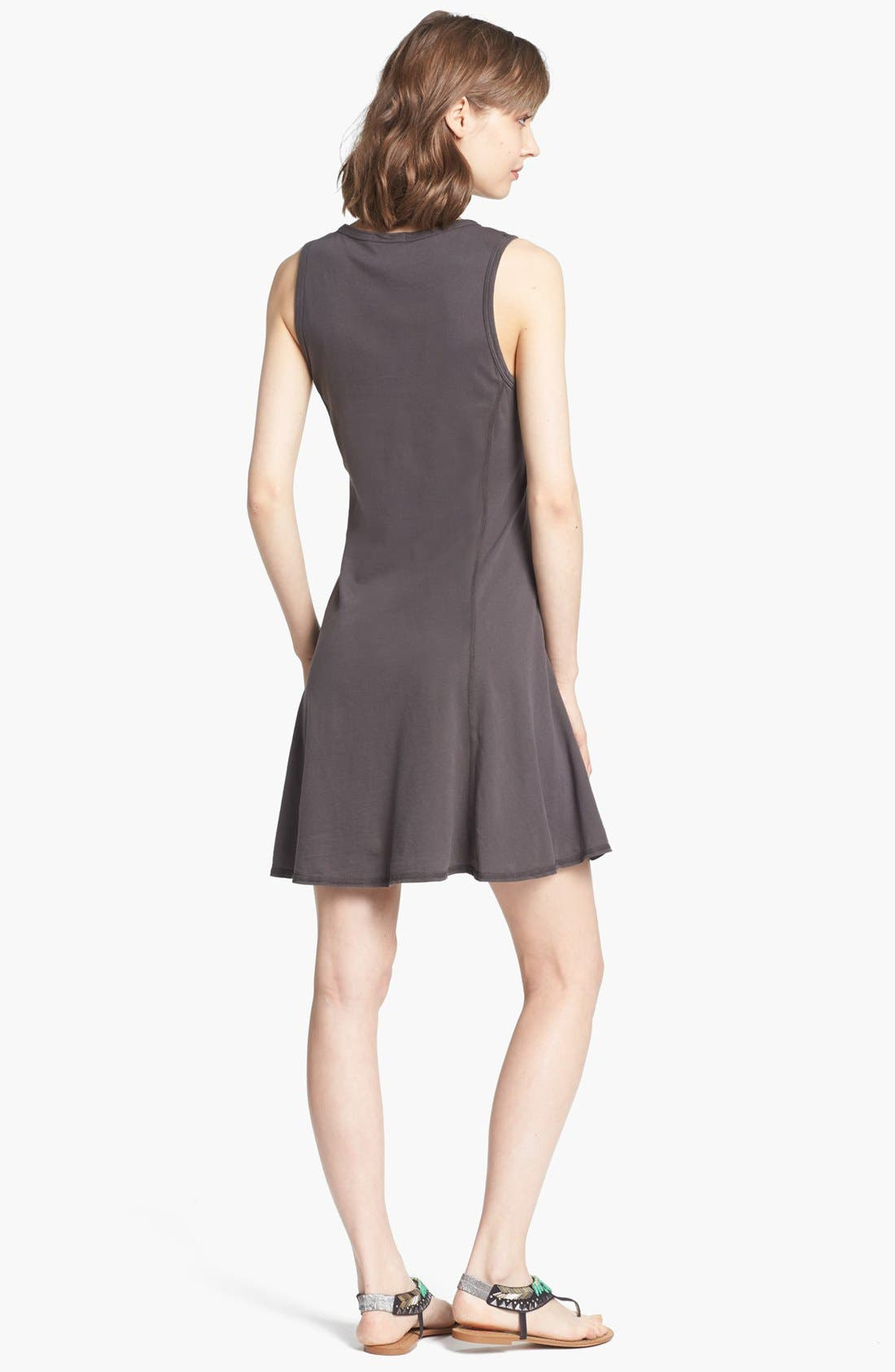 Alternate Image 2  - James Perse Flared Sleeveless Dress
