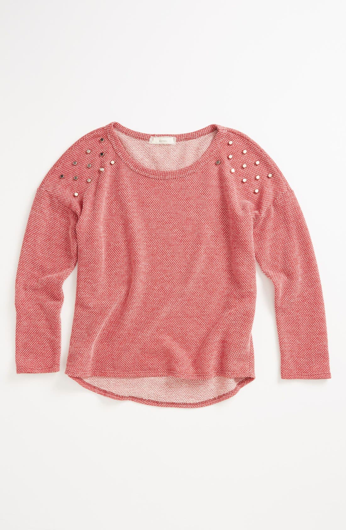 Alternate Image 1 Selected - Soprano Stud Shoulder Sweater (Big Girls)