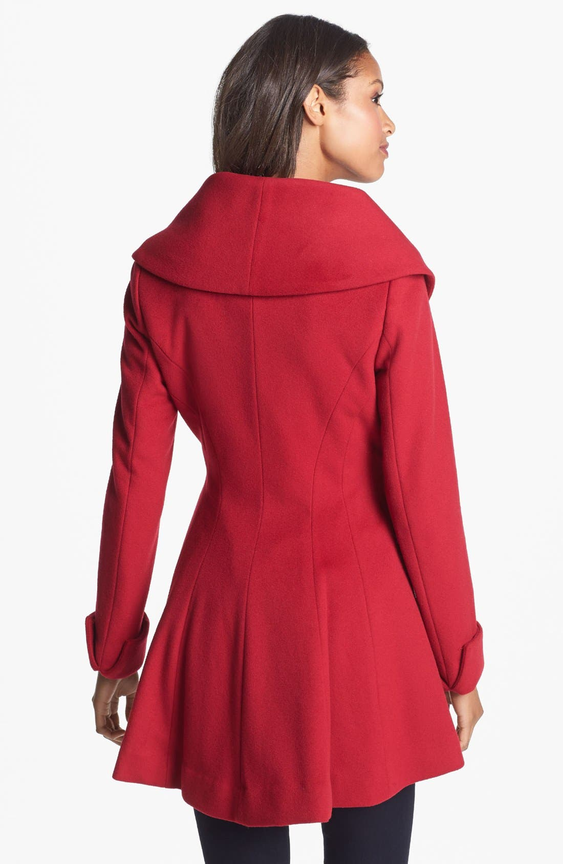 Alternate Image 2  - Trina Turk Belted Wrap Coat (Regular & Petite)