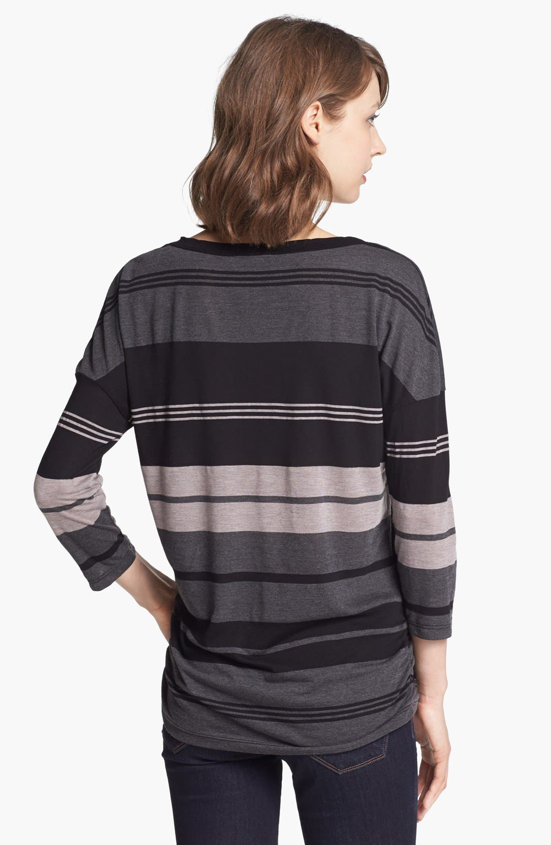 Alternate Image 2  - James Perse Stripe V-Neck Relaxed Fit Top