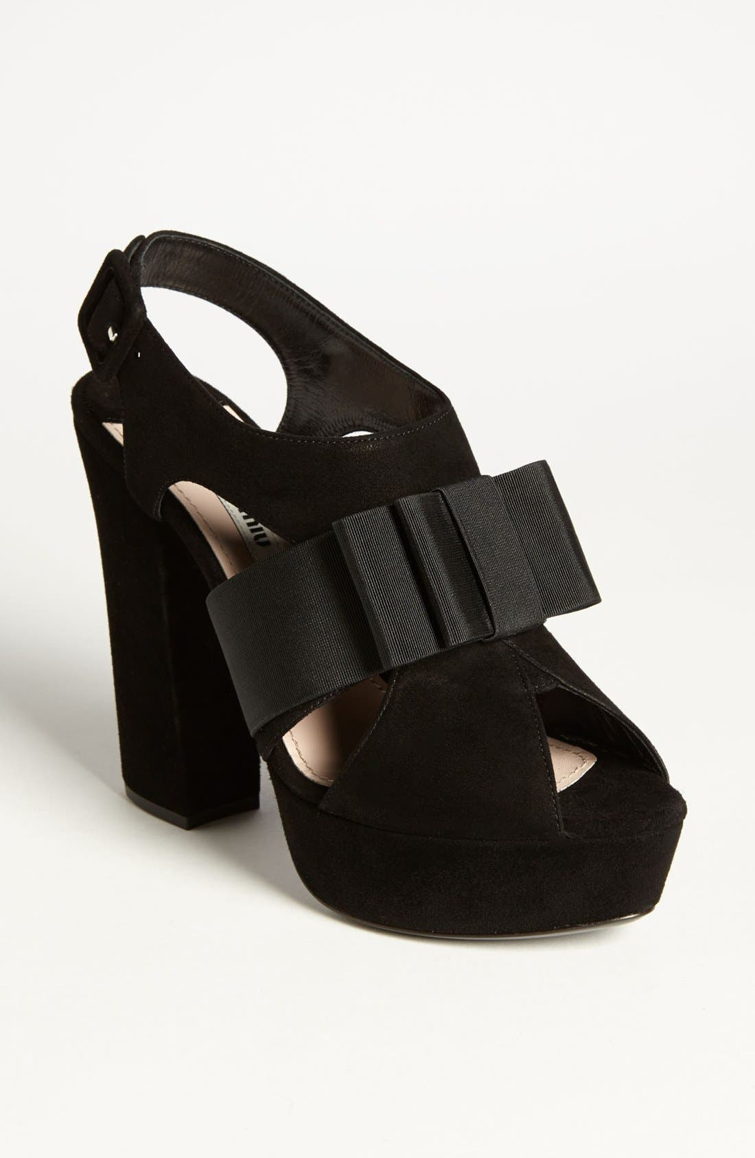 Alternate Image 1 Selected - Miu Miu 'Tuxedo Bow' Sandal