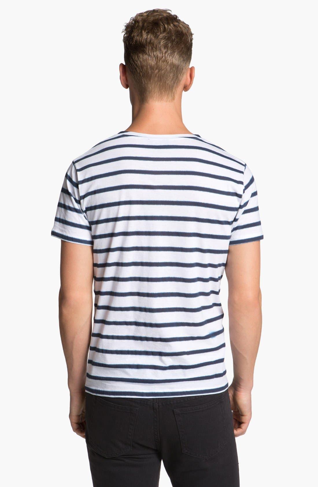 Alternate Image 2  - A.P.C. Stripe Crewneck T-Shirt