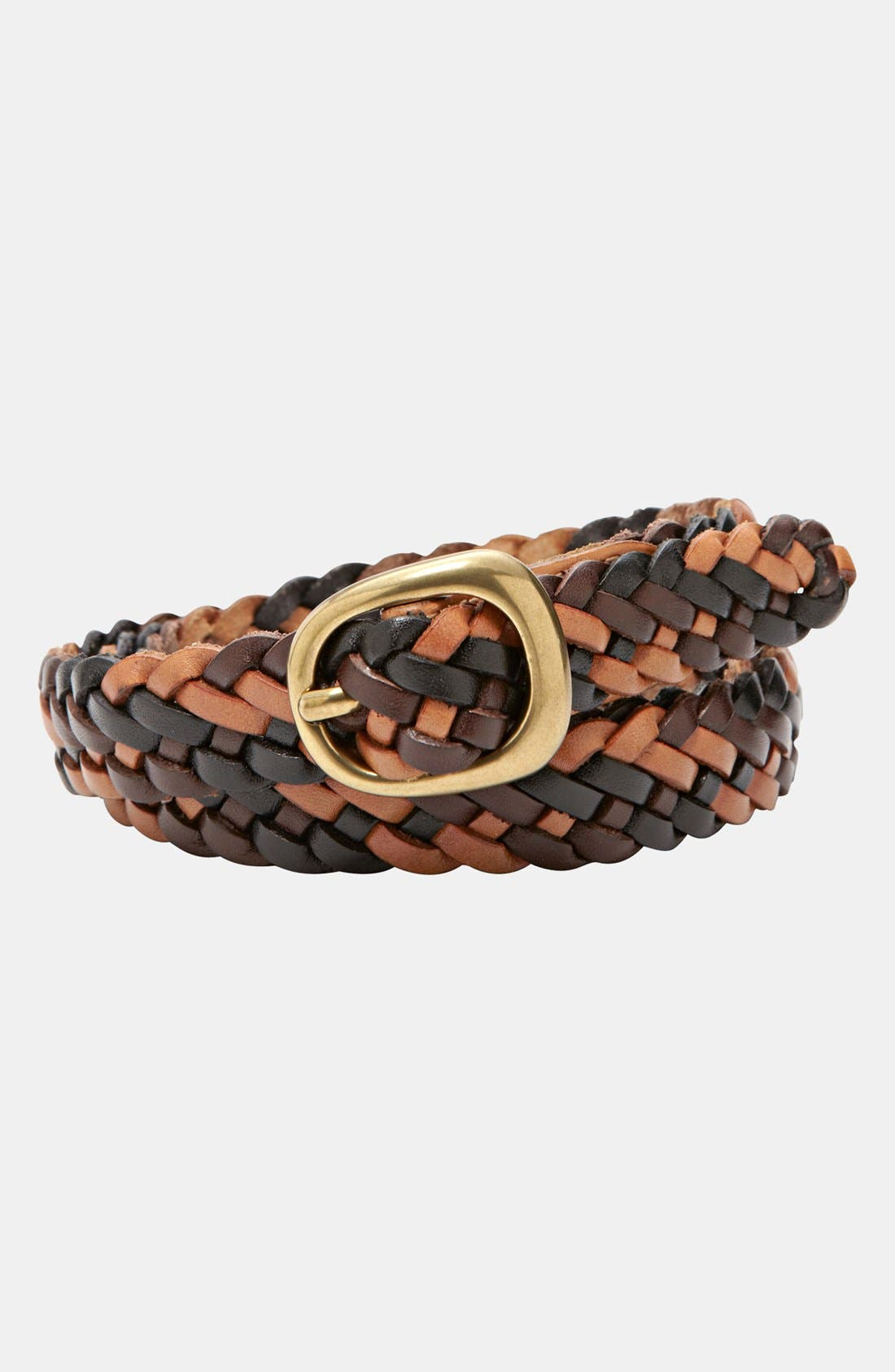 Alternate Image 1 Selected - Fossil Woven Leather Belt