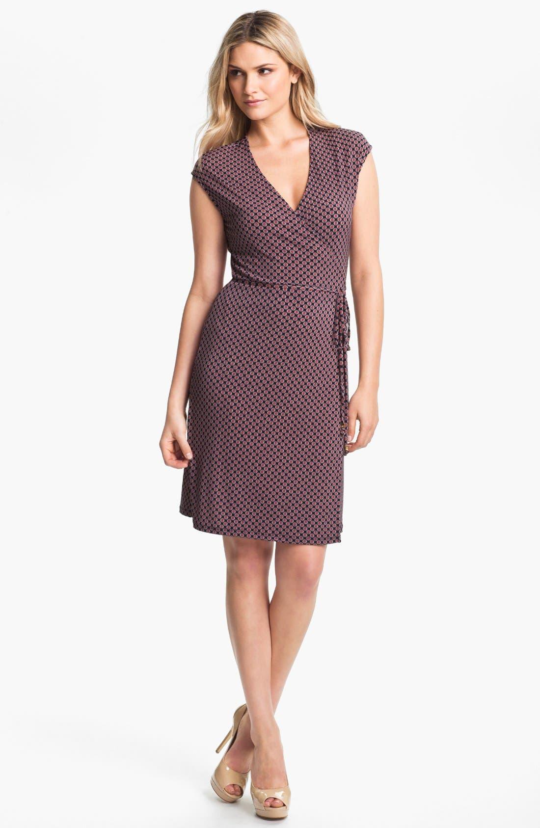 Alternate Image 1 Selected - MICHAEL Michael Kors Print Wrap Dress (Plus Size)