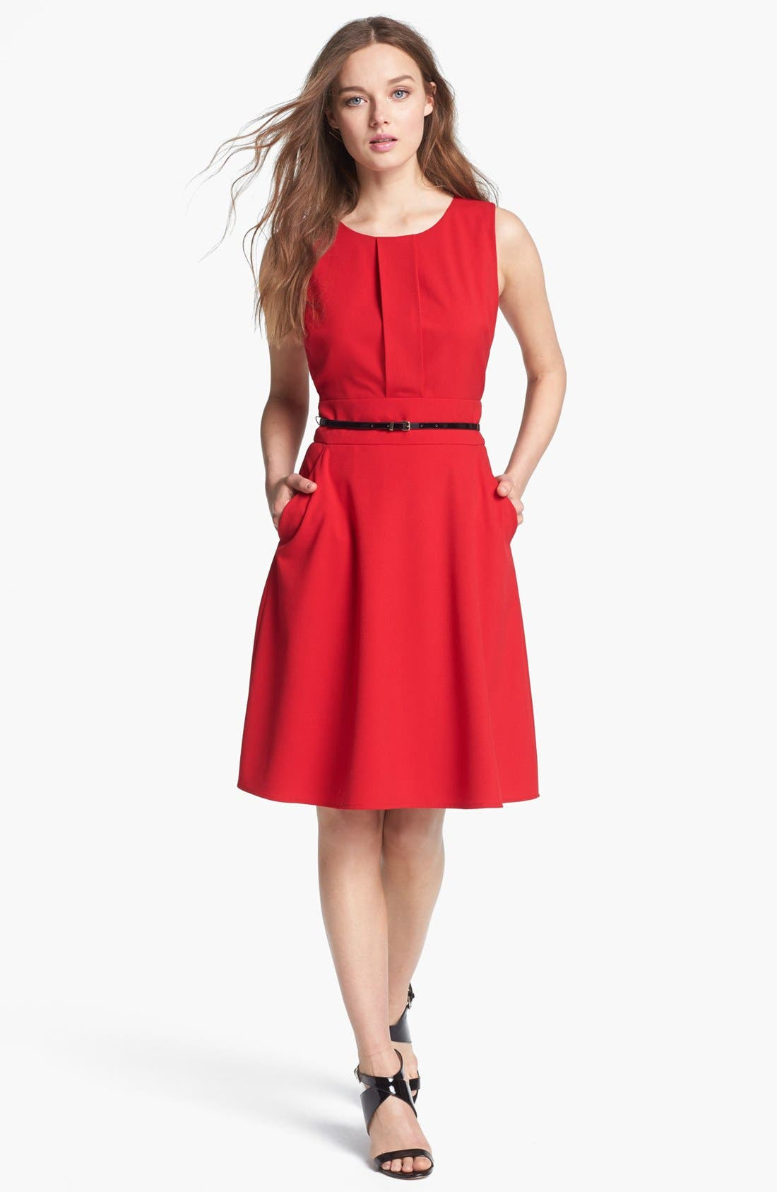 Alternate Image 1 Selected - Calvin Klein Fit & Flare Dress