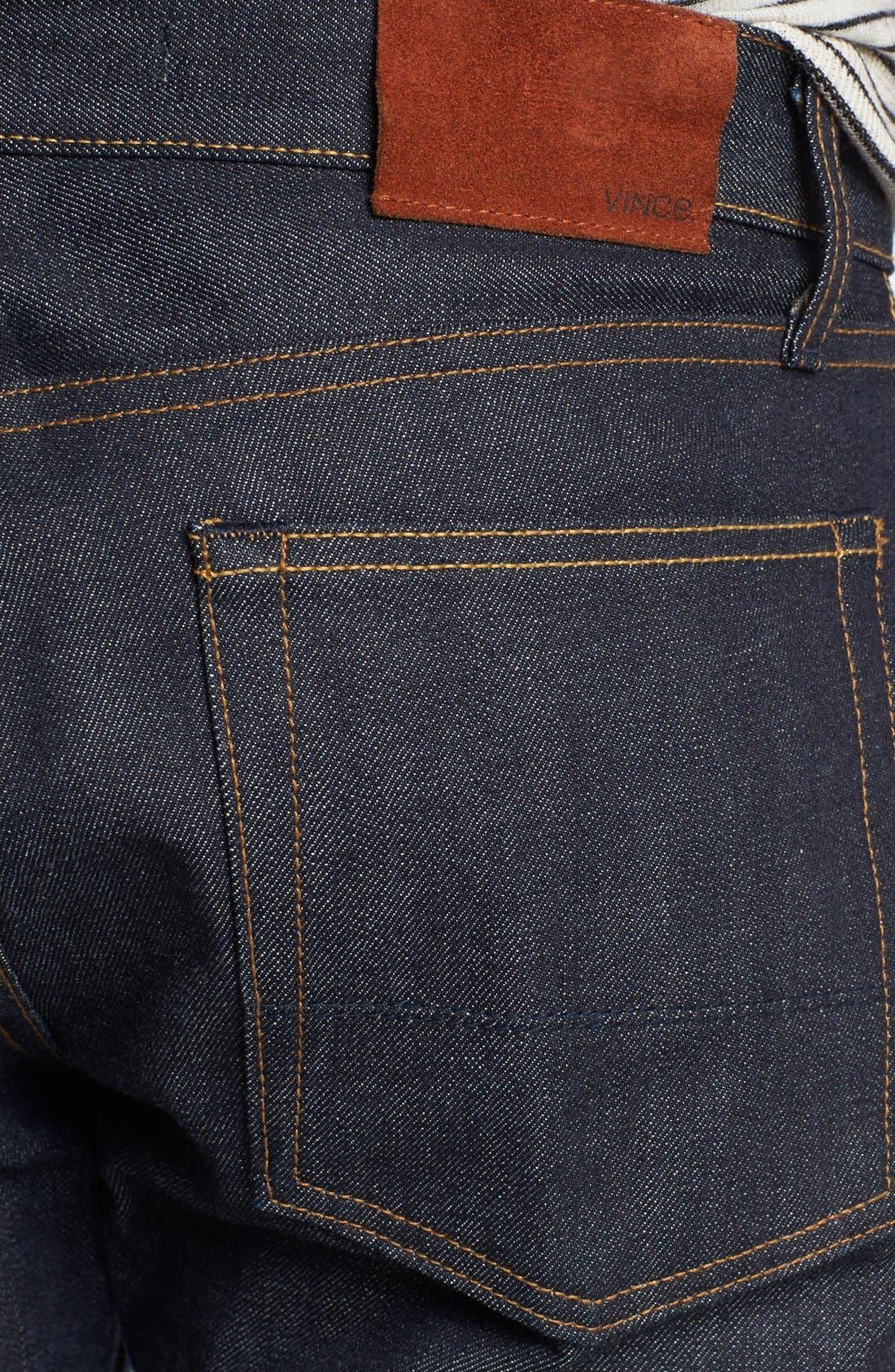 Alternate Image 4  - Vince Five-Pocket Selvedge Denim Jeans