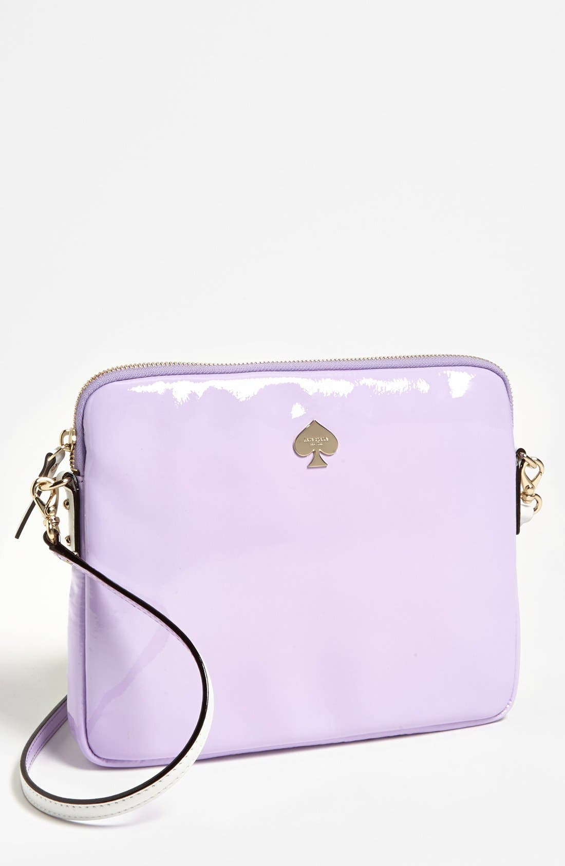 Alternate Image 1 Selected - kate spade new york 'bryce - flicker' patent leather iPad crossbody bag