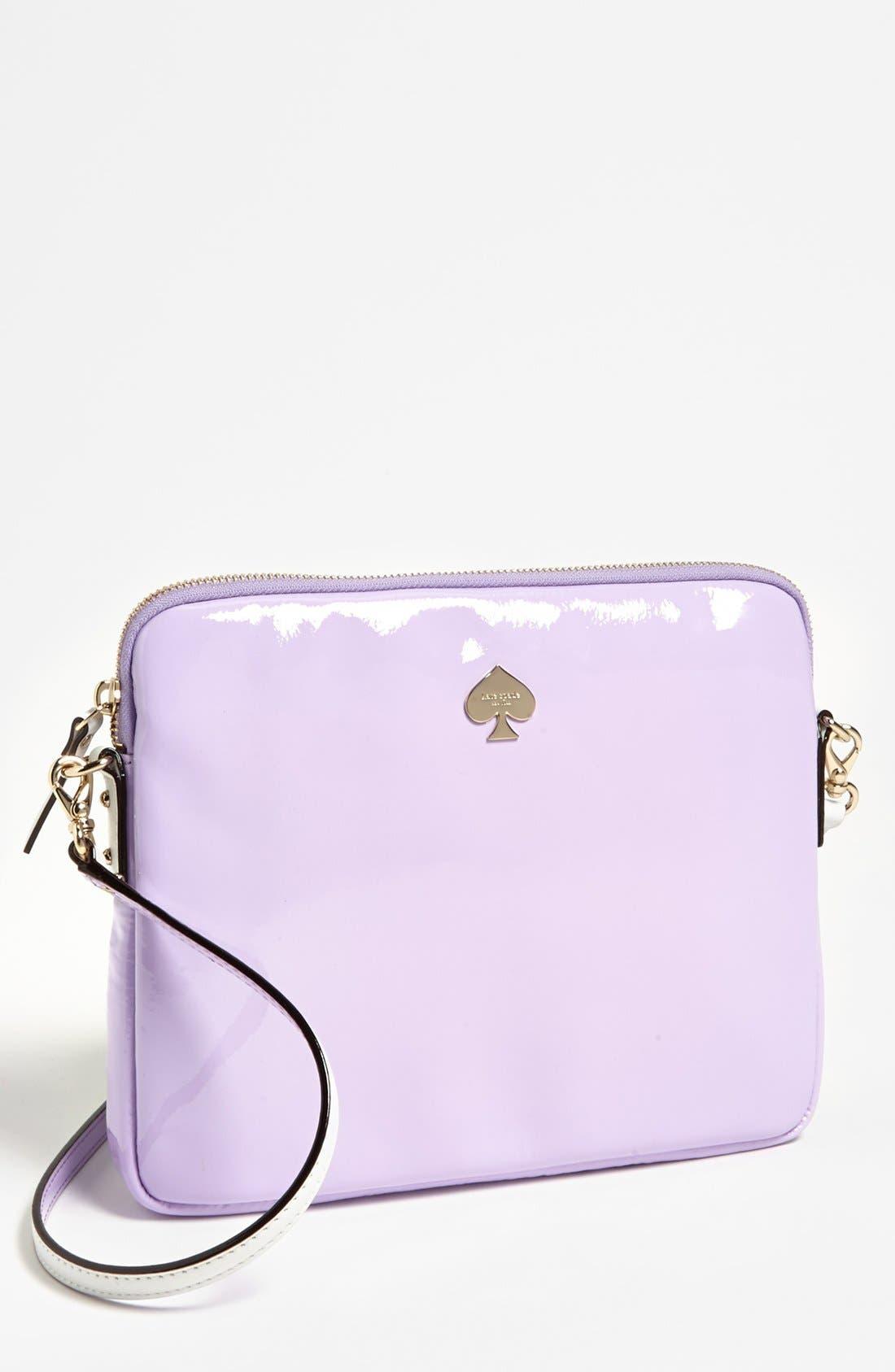 Main Image - kate spade new york 'bryce - flicker' patent leather iPad crossbody bag