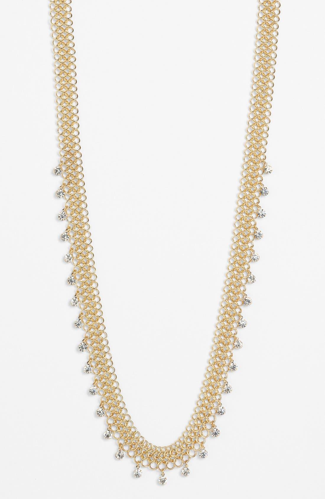 Main Image - Anne Klein Long Mesh Necklace